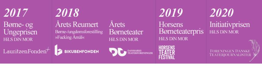 Priser 2017-2020 Lauritzenfonden, Bikubenfonden, Danmarks Teaterforeninger, Horsens Teaterfestival, Foreningen Danske Teaterjournlalister